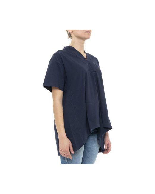 T-shirt Azul Allude de color Blue