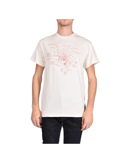 Paura T-shirt Girocollo Brain in het White voor heren