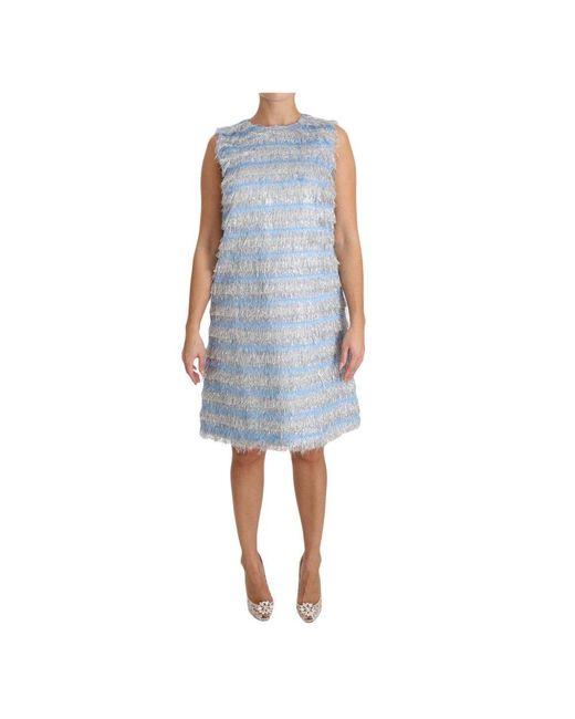 Maiusc Gown Dress di Dolce & Gabbana in Blue