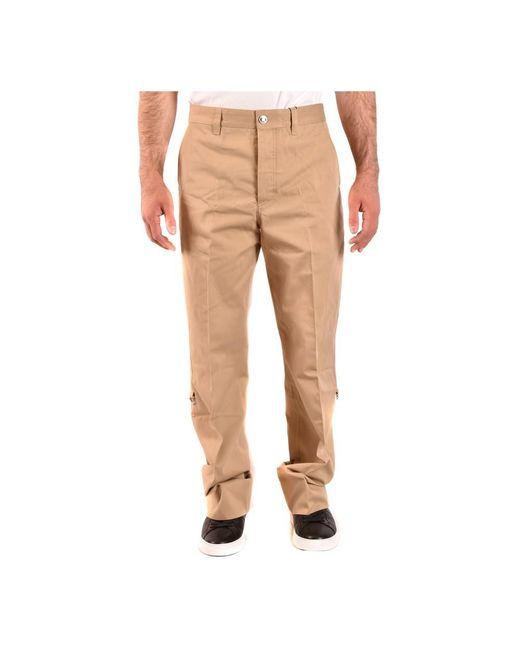 Trousers di Burberry in Natural da Uomo