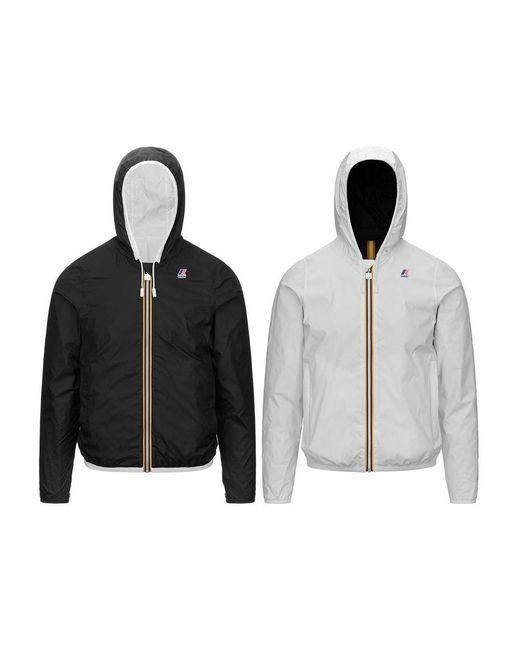 K-Way Jacques Plus Double Jacket in het Black voor heren