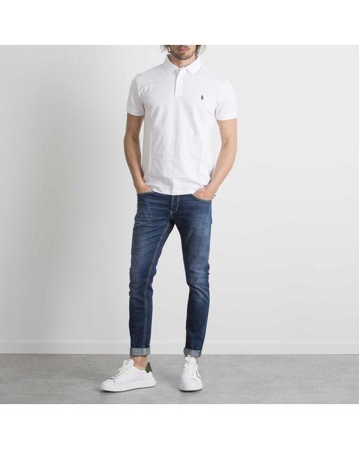 Polo Blanco Ralph Lauren de hombre de color White