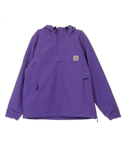 Anorak Nimbus Pullover di Carhartt WIP in Purple da Uomo