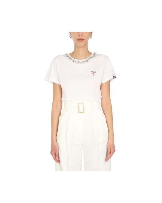 Golden Goose Deluxe Brand G Star T-shirt in het White