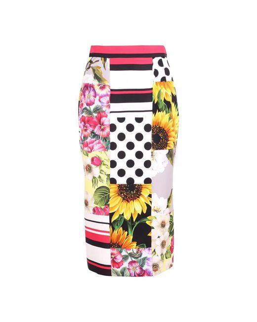 Silk Skirt di Dolce & Gabbana in Pink
