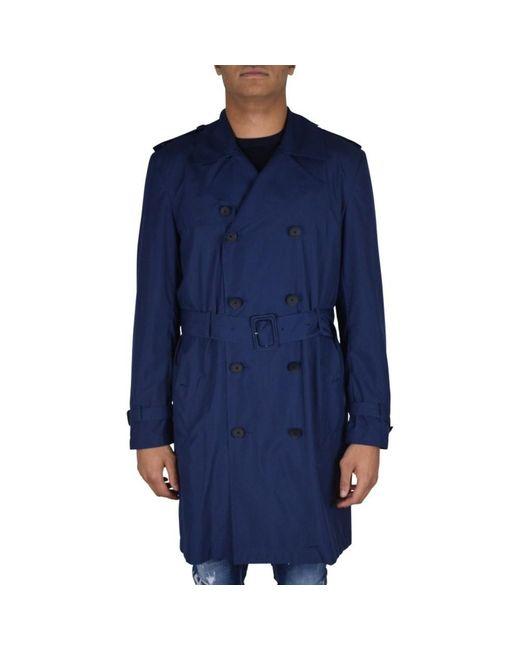 Valentino Trenchcoat in het Blue voor heren