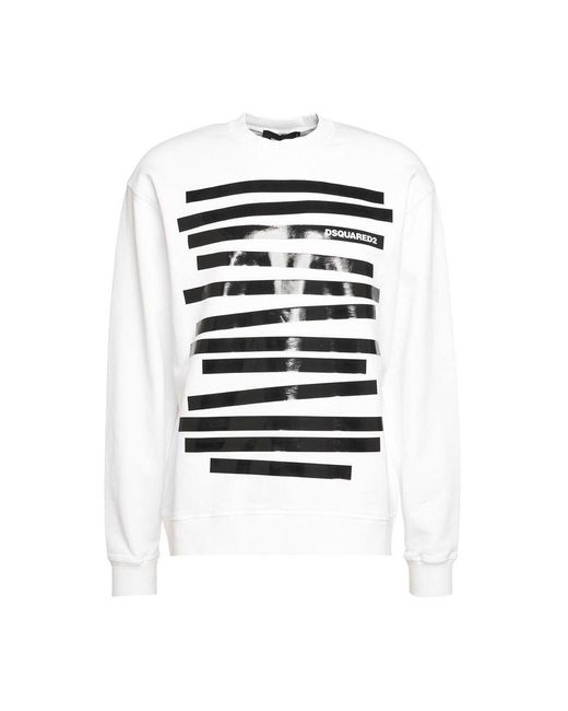DSquared² Sweatshirt Met Logo in het White voor heren
