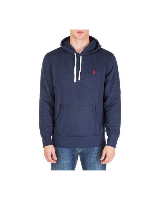 Polo Ralph Lauren Men's Hoodie Sweatshirt Sweat in het Blue voor heren