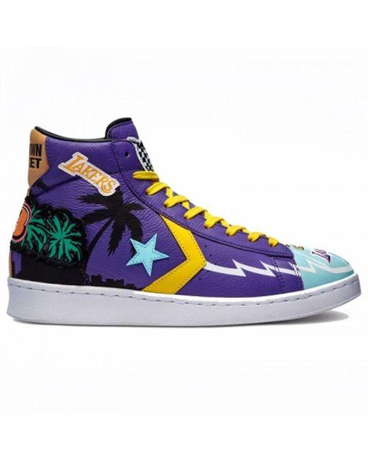 X Pro Leather Hi Sneakers Converse pour homme en coloris Bleu - Lyst