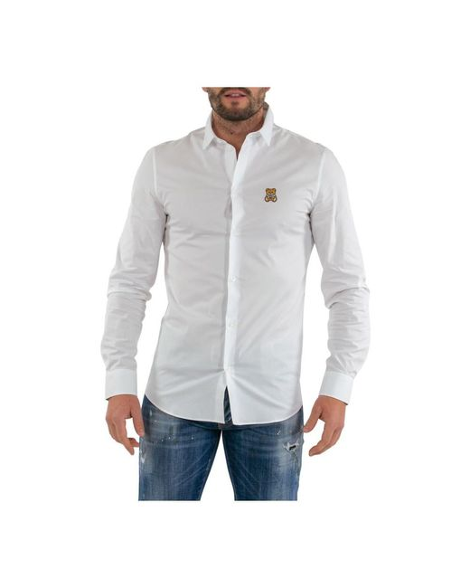 TOY poplin shirt di Moschino in White da Uomo
