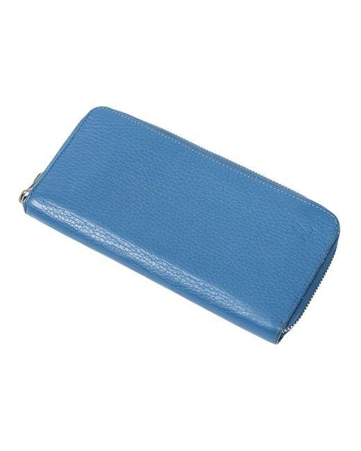 Louis Vuitton Zippy Portemonnee Verticaal in het Blue