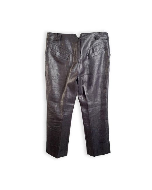Linen Cropped Pants Trousers Size 44 IT di Dior in Gray