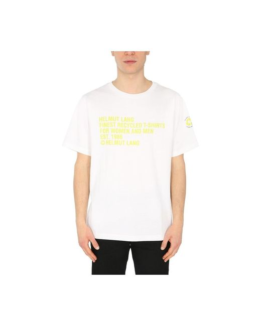 Helmut Lang Crew Neck T-shirt in het White voor heren