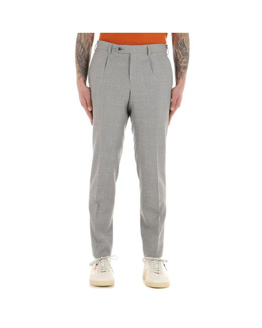 Lubiam Trousers in het Gray voor heren
