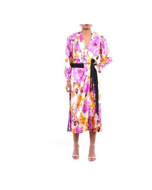Dries Van Noten 110769055 Long Dress in het Pink