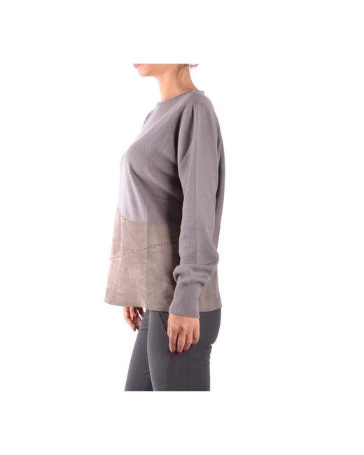 Sweater Gris Fabiana Filippi de color Gray