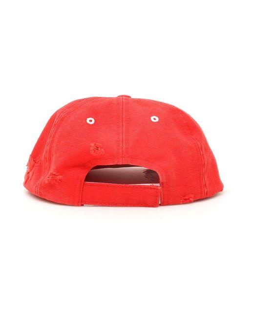 Gorra de béisbol con logo nuevo Rojo Off-White c/o Virgil Abloh de color Red