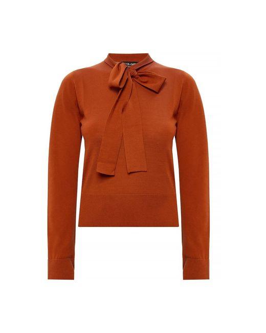 Self-tie sweater di Dolce & Gabbana in Orange