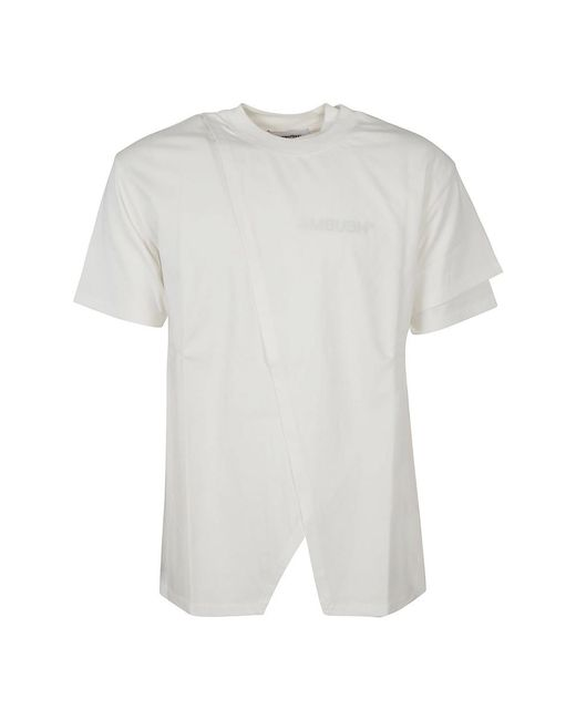 Ambush T-shirt in het White voor heren