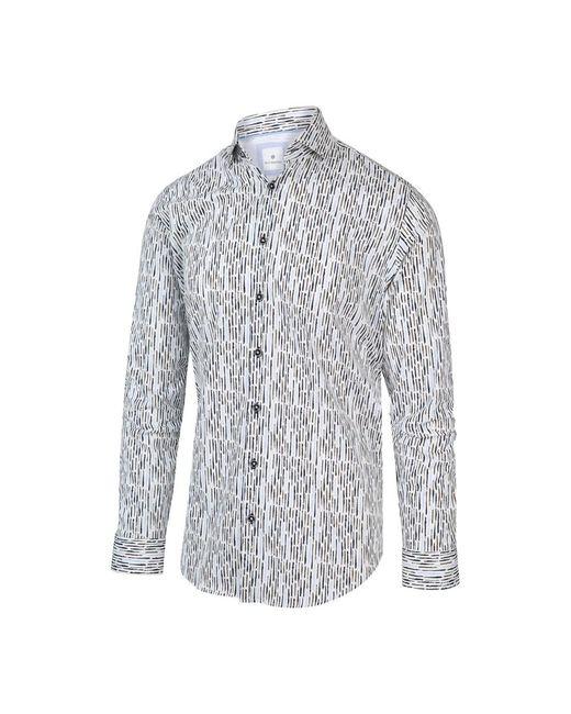BLUE INDUSTRY Overhemd Shirt Print 2013.21 in het White voor heren
