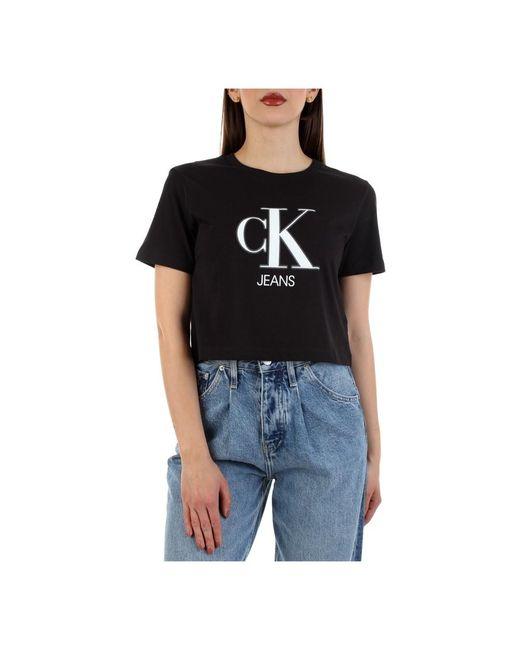 Calvin Klein Short Sleeve T-shirt in het Black