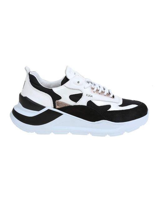 Date Low Top Sneakers in het White