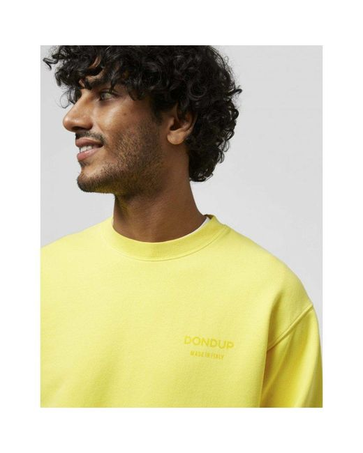 Felpa Girocollo di Dondup in Yellow da Uomo