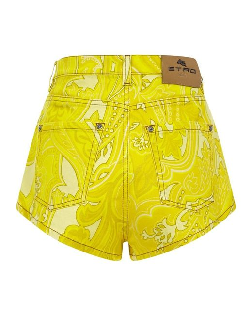 Shorts Amarillo Etro de color Yellow