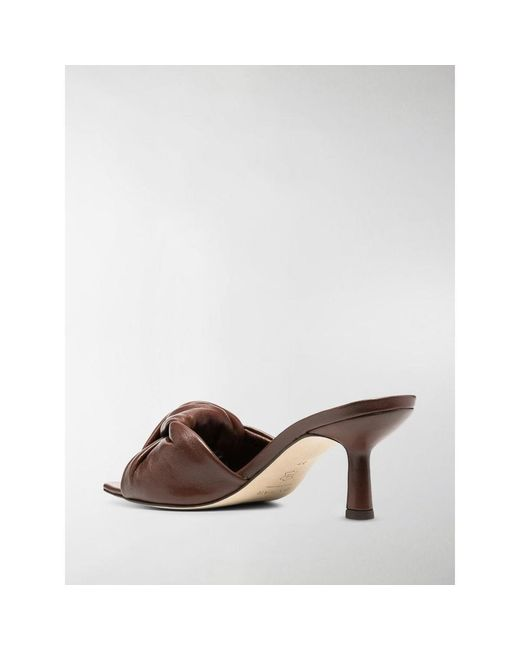 """By Far Brown """"Lana"""" Leather Mules"""