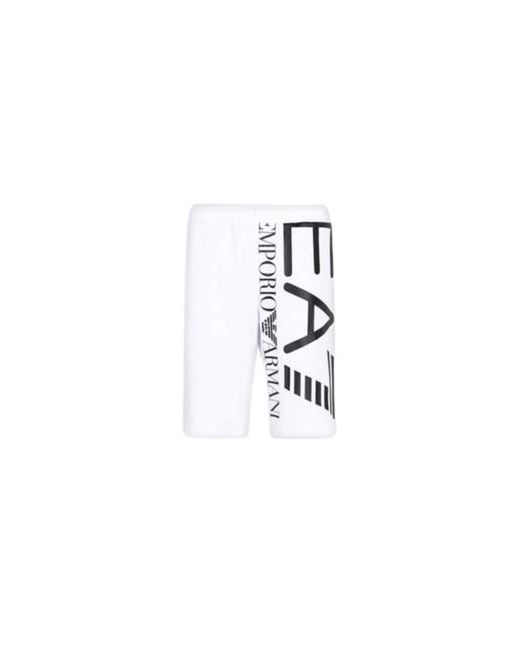 EA7 Bermuda Shorts in White für Herren