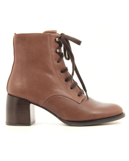 Chie Mihara Or-ormast Terra Lace-up Boots in het Brown