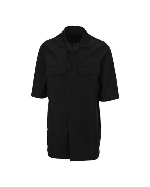 Rick Owens Overhemd Ru21s6787ts in het Black voor heren