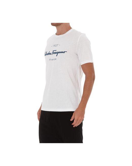 Ferragamo T-shirt in het White voor heren