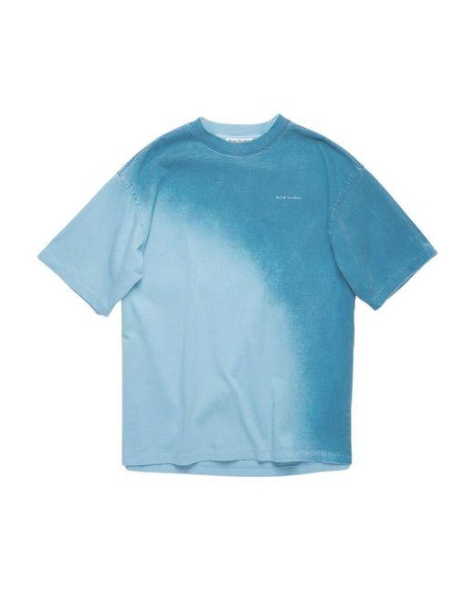 Acne T-shirt in het Blue
