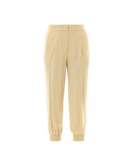 Erika Cavallini Semi Couture Trousers P1sr06 in het Natural