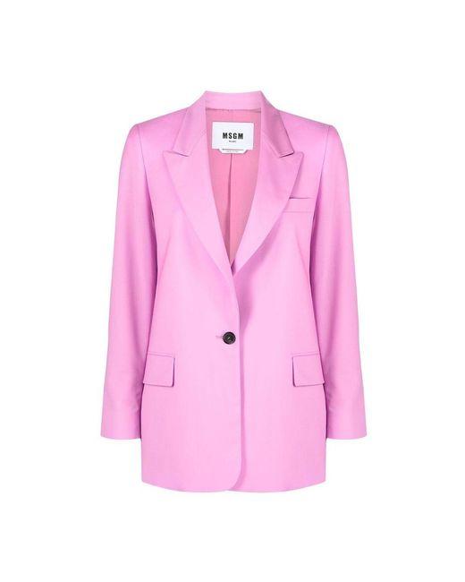 MSGM Jacket in het Pink