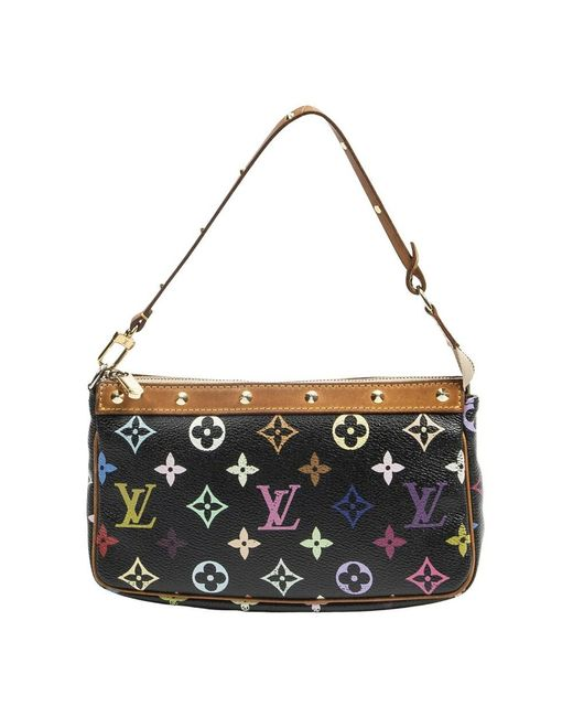 Louis Vuitton Pre-owned Takashi Murakami Accessory Pouch in het Black