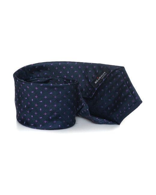 Kiton Tie in het Blue voor heren