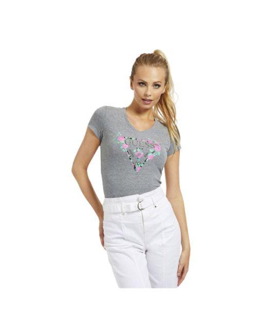 Guess W0yi85 J1300 T-shirt in het Gray