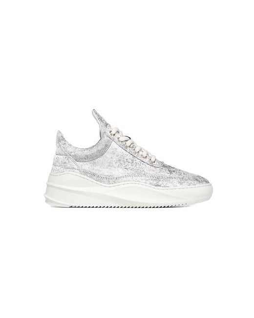 Filling Pieces Gray Low Top Sky Jacquard Silver