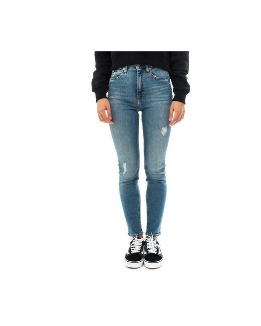 Jean Femme 010 Skinny Taille Haute J20J213061.1A4 Calvin Klein pour homme en coloris Blue