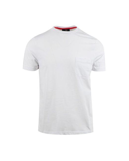 Fay T-shirt in het White voor heren