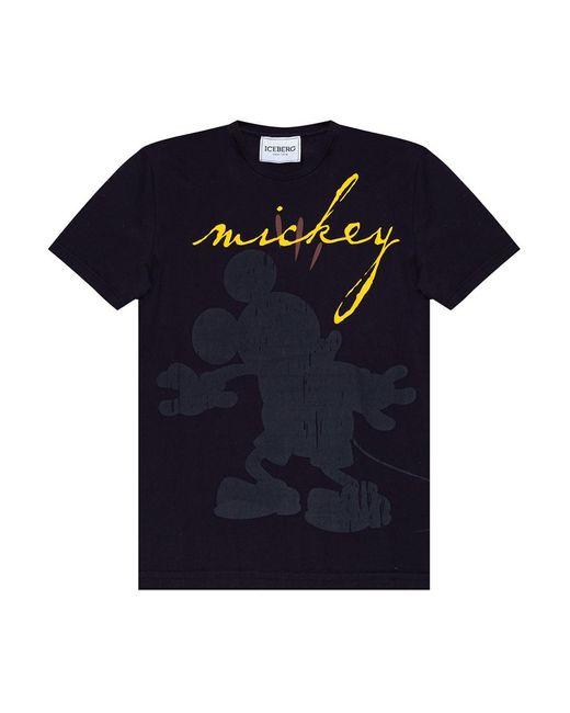 Printed T-shirt Iceberg pour homme en coloris Black