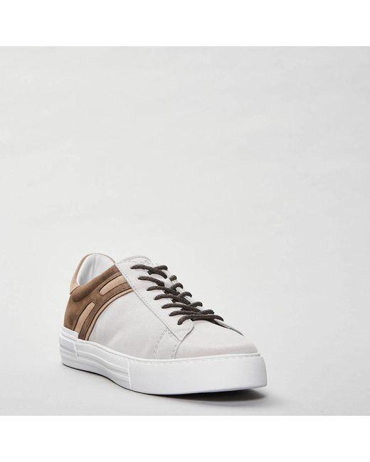 Rebel Sneakers in suede Beige Hogan de color Natural