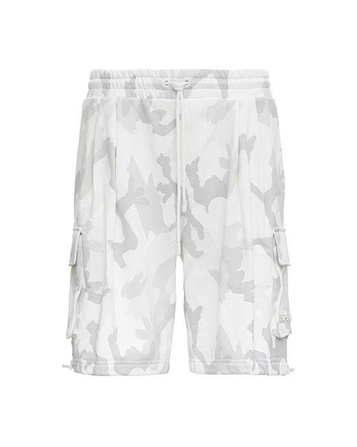 Dolce & Gabbana Camouflage Bermuda Shorts in het White voor heren