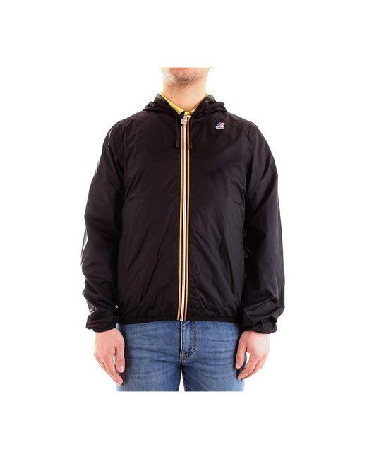 K-Way Coat in Black für Herren
