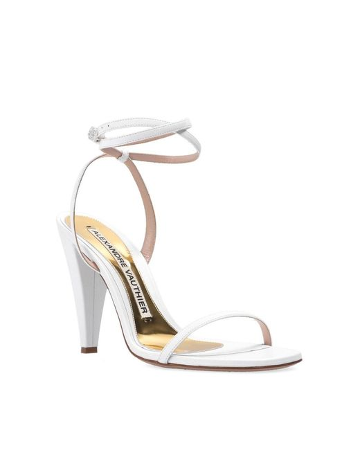 Aoki heeled sandals Blanco Alexandre Vauthier de color White