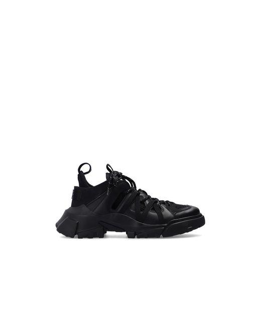 Alexander McQueen Sneakers Met Merknaam in het Black