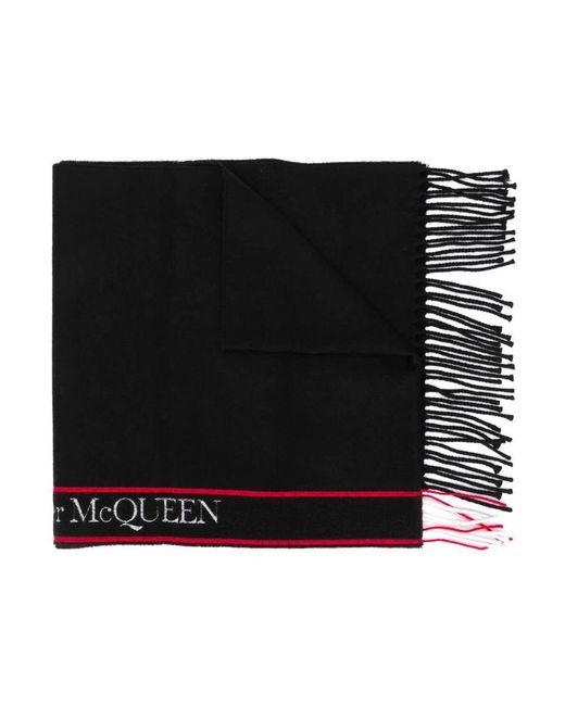 Alexander McQueen Scarf in het Black