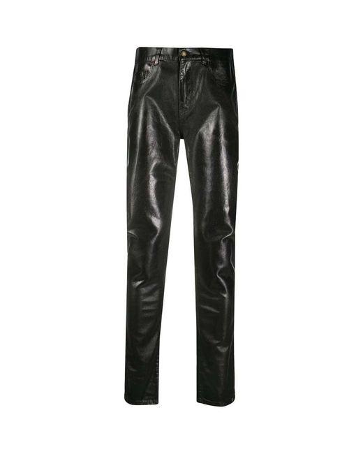 Saint Laurent Skinny Medium Waist in het Black voor heren